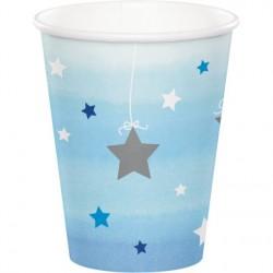 Bicchieri in carta Stelline Azzurro - Twinkle Twinkle Little Star