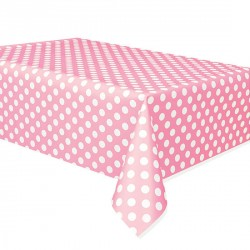 Light Pink Dots Plastic Tablecover