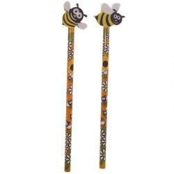 Pencil with rubber Bee