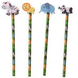 Set Pencil with rubber Jungle 4pc