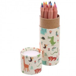 Tubo con matite colorate Giungla