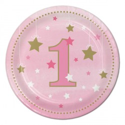 Little Star Girl Dessert Plates