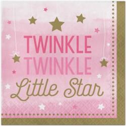 Tovaglioli Stelline Rosa - Twinkle Twinkle Little Star