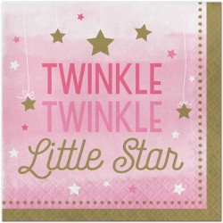Little Star Girl Napkins - Twinkle Twinkle Little Star