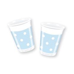 Light Blue Dots Plastic Cups