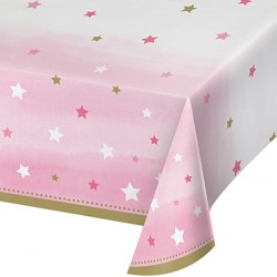 Little Star Girl Birthday Tablecover