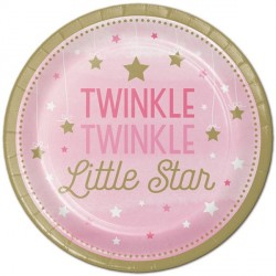 Twinkle Little Star Girl Dessert Plates
