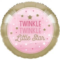 Palloncino foil Stelline Rosa - Twinkle Twinkle Little Star