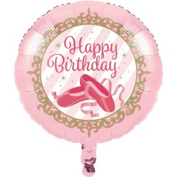 Twinkle Toes Happy Birthday Foil Balloon