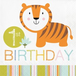 Jungle Party 1st Birthday Napkins