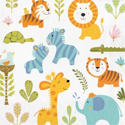 Happy Jungle Party Napkins