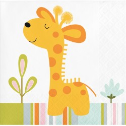 Happy Jungle Giraffe Beverage Napkins