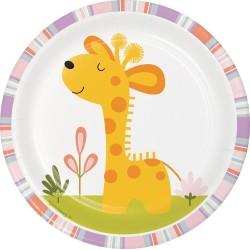 Happy Jungle Giraffe Dessert Plates