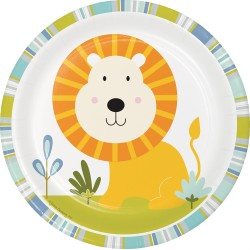 Happy Jungle Lion Dessert Plates