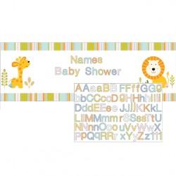 Banner Personalizzabile Animaletti Giungla