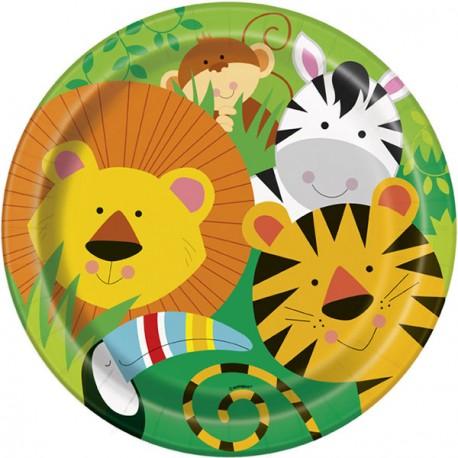 Piatti Festa Animali della Giungla