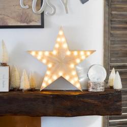 Lampada Stella in Legno