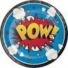 Superhero Slogans Dessert Plates
