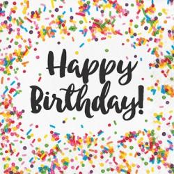 Sprinkles Happy Birthday Napkins