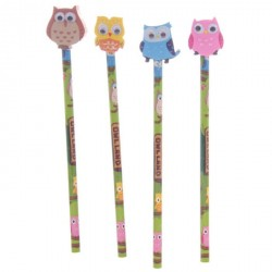 Pencil with rubber Owl