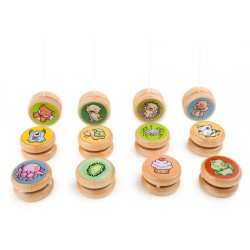 Yo-yo in legno decorazioni assortite