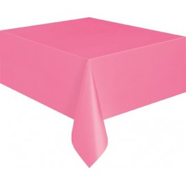 Bright Pink Plastic Tablecover
