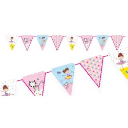 Birthday Ballerina Flags Banner
