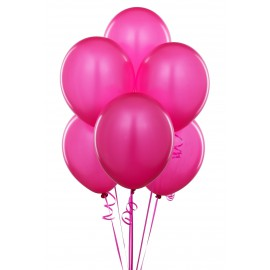 Bright Pink Latex Balloons 10pc