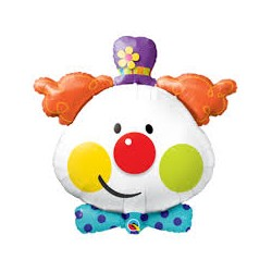 Clown SuperShape Foil Balloon