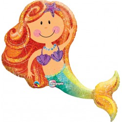 Mermaid SuperShape Foil Balloon