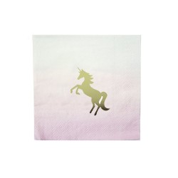 Unicorn Pink and Gold Napkins