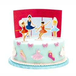 Ballerina Cake Decorative Picks