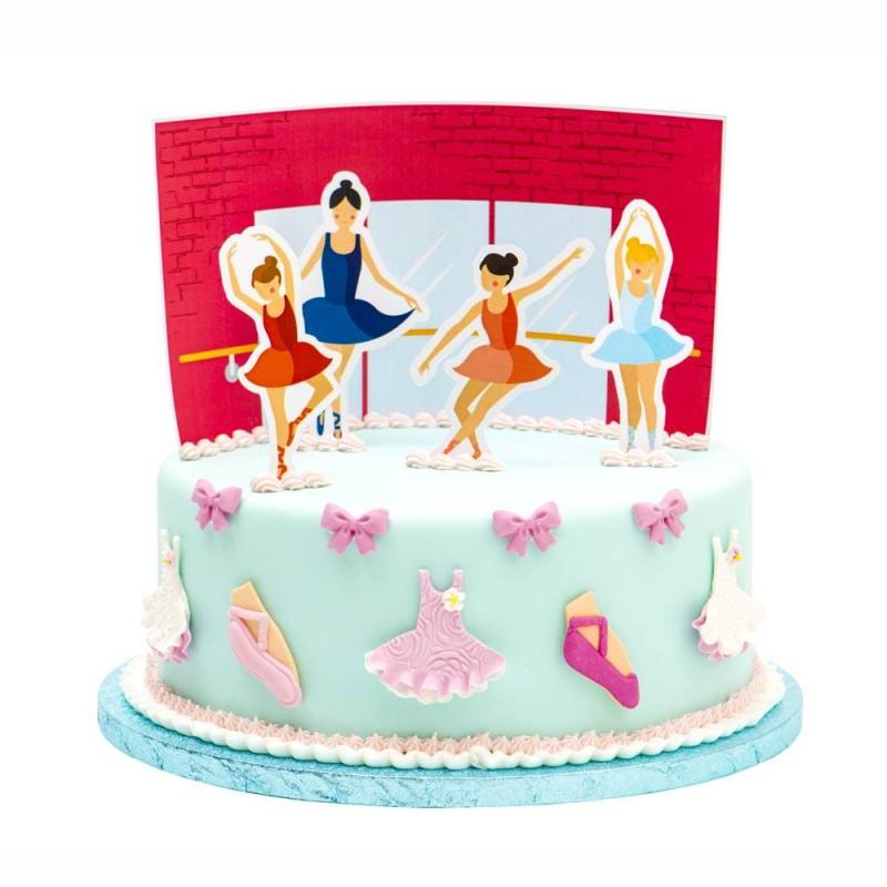 set decorazione per torta ballerina