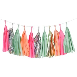 Pastel and Foil Tassel Garland