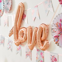 """Love"" foil Gold Rose Balloon"