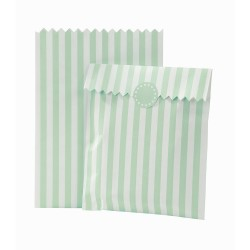 Striped Mint Treat Bags
