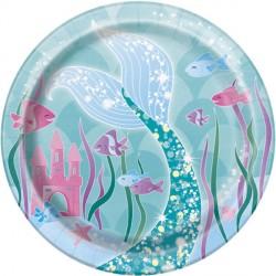 Mermaid Dessert Plates