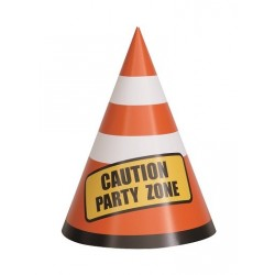Construction Cones Party Hats