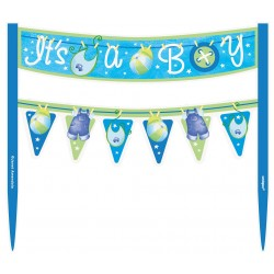 Blue Clothes Baby Shower Boy Cake Topper