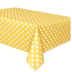Yellow Dots Plastic Tablecover