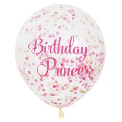 Birthday Princess Confetti Balloons