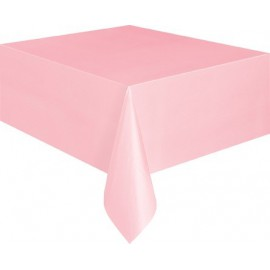 Light Pink Plastic Tablecover