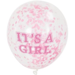 Palloncini con coriandoli It's a Girl