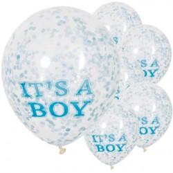 Palloncini con coriandoli It's a Boy