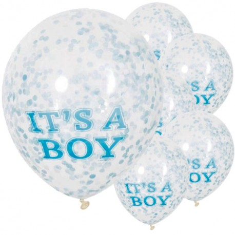 It's a Boy Confetti Balloons