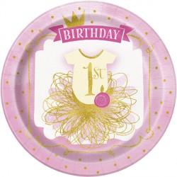 Piatti Pink and Gold per Festa Primo Compleanno Bimba