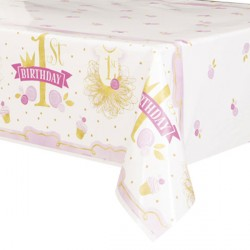 Pink and Gold Tablecover
