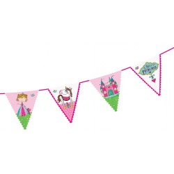 Birthday Princess Flags Banner
