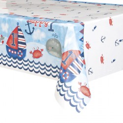 Nautical 1st Birthday Tablecover