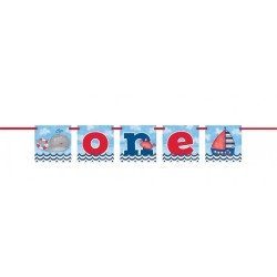 "Nautical First Birthday ""One"" Banner"